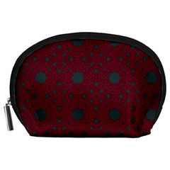 Blue Hot Pink Pattern With Woody Circles Accessory Pouches (large)