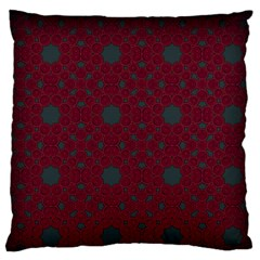Blue Hot Pink Pattern With Woody Circles Standard Flano Cushion Case (two Sides)
