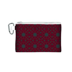 Blue Hot Pink Pattern With Woody Circles Canvas Cosmetic Bag (s)