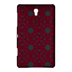 Blue Hot Pink Pattern With Woody Circles Samsung Galaxy Tab S (8 4 ) Hardshell Case