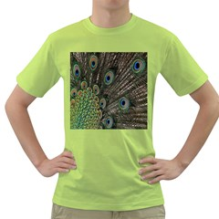 Close Up Of Peacock Feathers Green T Shirt