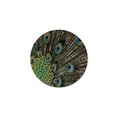 Close Up Of Peacock Feathers Golf Ball Marker