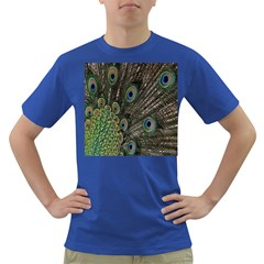 Close Up Of Peacock Feathers Dark T Shirt