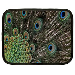 Close Up Of Peacock Feathers Netbook Case (large)