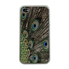 Close Up Of Peacock Feathers Apple Iphone 4 Case (clear)