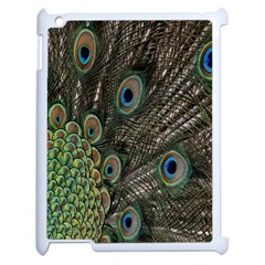 Close Up Of Peacock Feathers Apple Ipad 2 Case (white)