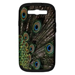 Close Up Of Peacock Feathers Samsung Galaxy S Iii Hardshell Case (pc+silicone)