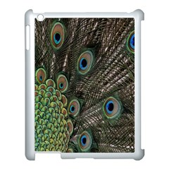 Close Up Of Peacock Feathers Apple Ipad 3/4 Case (white)