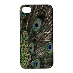 Close Up Of Peacock Feathers Apple Iphone 4/4s Hardshell Case With Stand