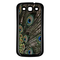 Close Up Of Peacock Feathers Samsung Galaxy S3 Back Case (black)