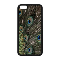 Close Up Of Peacock Feathers Apple Iphone 5c Seamless Case (black)