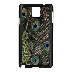 Close Up Of Peacock Feathers Samsung Galaxy Note 3 N9005 Case (black)