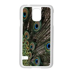Close Up Of Peacock Feathers Samsung Galaxy S5 Case (white)