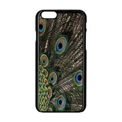 Close Up Of Peacock Feathers Apple Iphone 6/6s Black Enamel Case