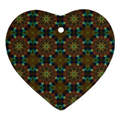 Seamless Abstract Peacock Feathers Abstract Pattern Ornament (heart)