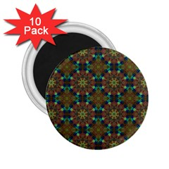 Seamless Abstract Peacock Feathers Abstract Pattern 2 25  Magnets (10 Pack)