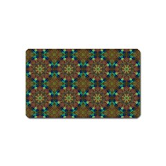 Seamless Abstract Peacock Feathers Abstract Pattern Magnet (name Card)