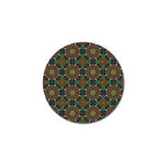 Seamless Abstract Peacock Feathers Abstract Pattern Golf Ball Marker