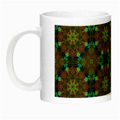 Seamless Abstract Peacock Feathers Abstract Pattern Night Luminous Mugs