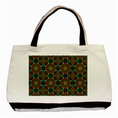 Seamless Abstract Peacock Feathers Abstract Pattern Basic Tote Bag