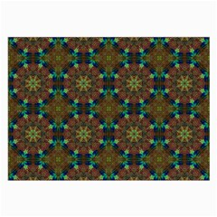 Seamless Abstract Peacock Feathers Abstract Pattern Large Glasses Cloth (2 Side)
