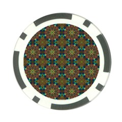 Seamless Abstract Peacock Feathers Abstract Pattern Poker Chip Card Guard