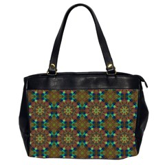 Seamless Abstract Peacock Feathers Abstract Pattern Office Handbags (2 Sides)