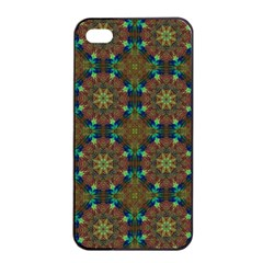 Seamless Abstract Peacock Feathers Abstract Pattern Apple Iphone 4/4s Seamless Case (black)