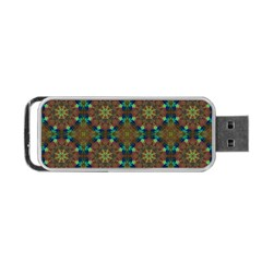 Seamless Abstract Peacock Feathers Abstract Pattern Portable Usb Flash (two Sides)