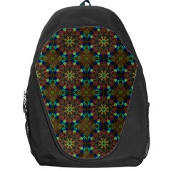 Seamless Abstract Peacock Feathers Abstract Pattern Backpack Bag
