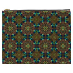 Seamless Abstract Peacock Feathers Abstract Pattern Cosmetic Bag (xxxl)