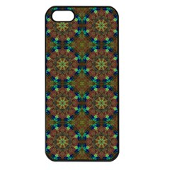 Seamless Abstract Peacock Feathers Abstract Pattern Apple Iphone 5 Seamless Case (black)