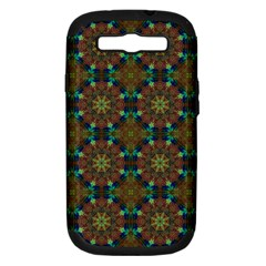 Seamless Abstract Peacock Feathers Abstract Pattern Samsung Galaxy S Iii Hardshell Case (pc+silicone)