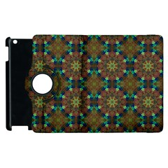 Seamless Abstract Peacock Feathers Abstract Pattern Apple Ipad 3/4 Flip 360 Case