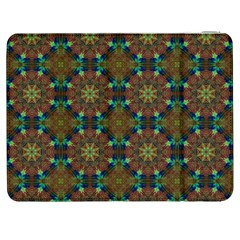 Seamless Abstract Peacock Feathers Abstract Pattern Samsung Galaxy Tab 7  P1000 Flip Case
