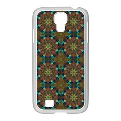 Seamless Abstract Peacock Feathers Abstract Pattern Samsung Galaxy S4 I9500/ I9505 Case (white)