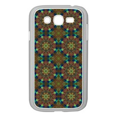 Seamless Abstract Peacock Feathers Abstract Pattern Samsung Galaxy Grand Duos I9082 Case (white)