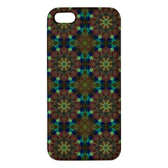 Seamless Abstract Peacock Feathers Abstract Pattern Iphone 5s/ Se Premium Hardshell Case