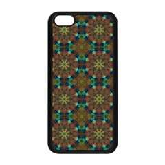 Seamless Abstract Peacock Feathers Abstract Pattern Apple Iphone 5c Seamless Case (black)