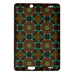 Seamless Abstract Peacock Feathers Abstract Pattern Amazon Kindle Fire Hd (2013) Hardshell Case