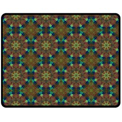 Seamless Abstract Peacock Feathers Abstract Pattern Double Sided Fleece Blanket (medium)