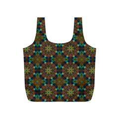 Seamless Abstract Peacock Feathers Abstract Pattern Full Print Recycle Bags (s)