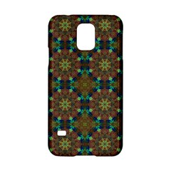 Seamless Abstract Peacock Feathers Abstract Pattern Samsung Galaxy S5 Hardshell Case