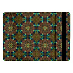 Seamless Abstract Peacock Feathers Abstract Pattern Samsung Galaxy Tab Pro 12 2  Flip Case