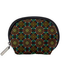 Seamless Abstract Peacock Feathers Abstract Pattern Accessory Pouches (small)
