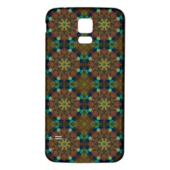 Seamless Abstract Peacock Feathers Abstract Pattern Samsung Galaxy S5 Back Case (white)