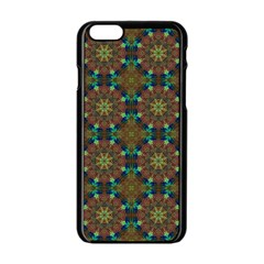 Seamless Abstract Peacock Feathers Abstract Pattern Apple Iphone 6/6s Black Enamel Case