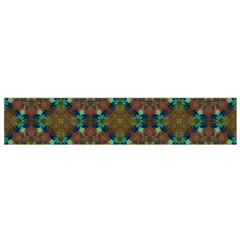 Seamless Abstract Peacock Feathers Abstract Pattern Flano Scarf (small)