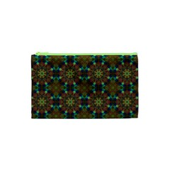 Seamless Abstract Peacock Feathers Abstract Pattern Cosmetic Bag (xs)