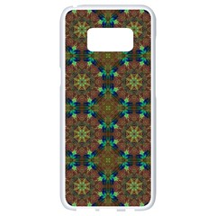 Seamless Abstract Peacock Feathers Abstract Pattern Samsung Galaxy S8 White Seamless Case